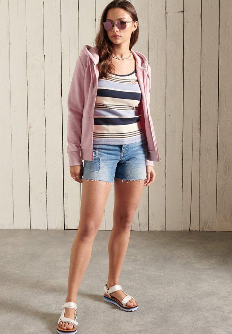 Superdry - ORANGE LABEL - Zip-up sweatshirt - soft pink marl