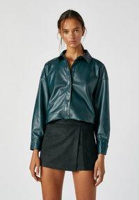 PULL&BEAR - A-line skirt - mottled black - 3