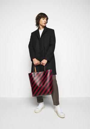 UNISEX - Shopping bag - mosstone/raspberry/black