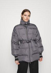 Who What Wear - ZIP FRONT PUFFER JACKET - Winter jacket - slate - 0