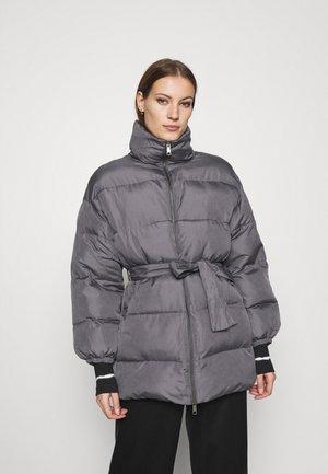 ZIP FRONT PUFFER JACKET - Winter jacket - slate