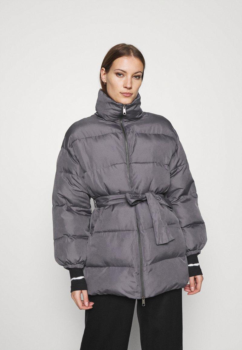 Who What Wear - ZIP FRONT PUFFER JACKET - Winter jacket - slate
