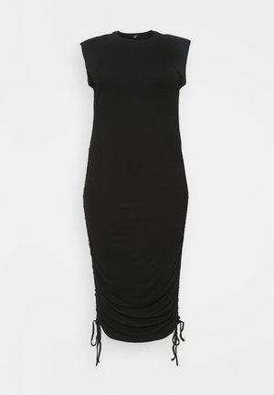 SHOULDER PAD RUCHED - Shift dress - black