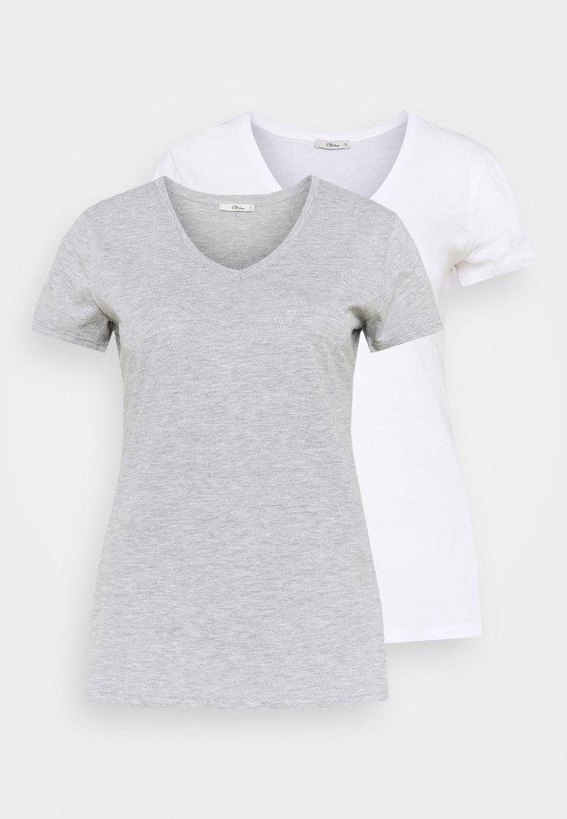 FASOMA2 PACK - Jednoduché triko - white/grey