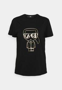 KARL LAGERFELD - IKONIK ART DECO  - Print T-shirt - black - 0