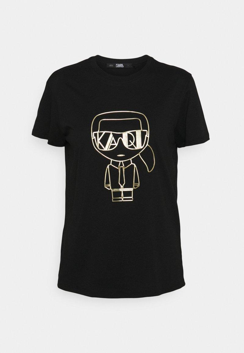 KARL LAGERFELD - IKONIK ART DECO  - Print T-shirt - black