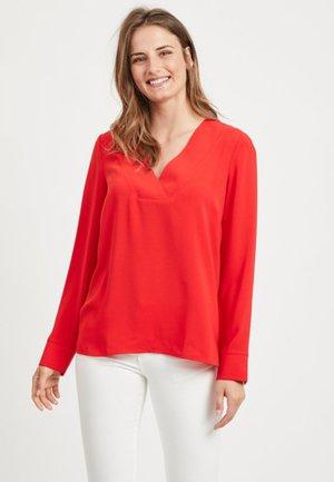 Long sleeved top - Racing Red