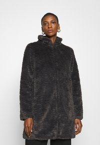 Dorothy Perkins - FUNNEL COLLAR TEXTURED LONGLINE  - Winter coat - slate - 0