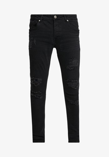 LEYL AND CHARC - Jeans Skinny Fit - charcoal