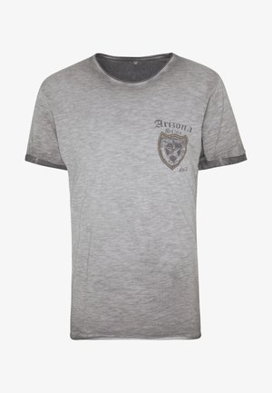 STATE ROUND - Print T-shirt - anthra