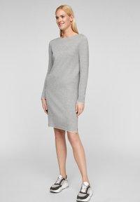 s.Oliver - Jumper dress - grey melange - 1