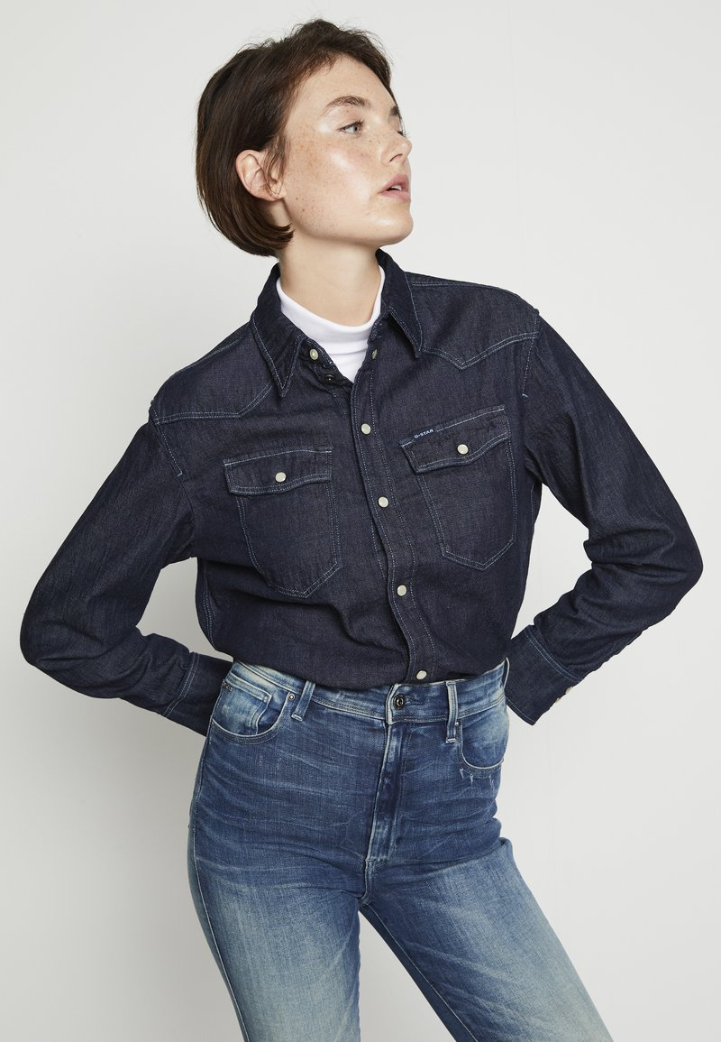 G-Star - WESTERN RELAXED  - Button-down blouse - raw denim