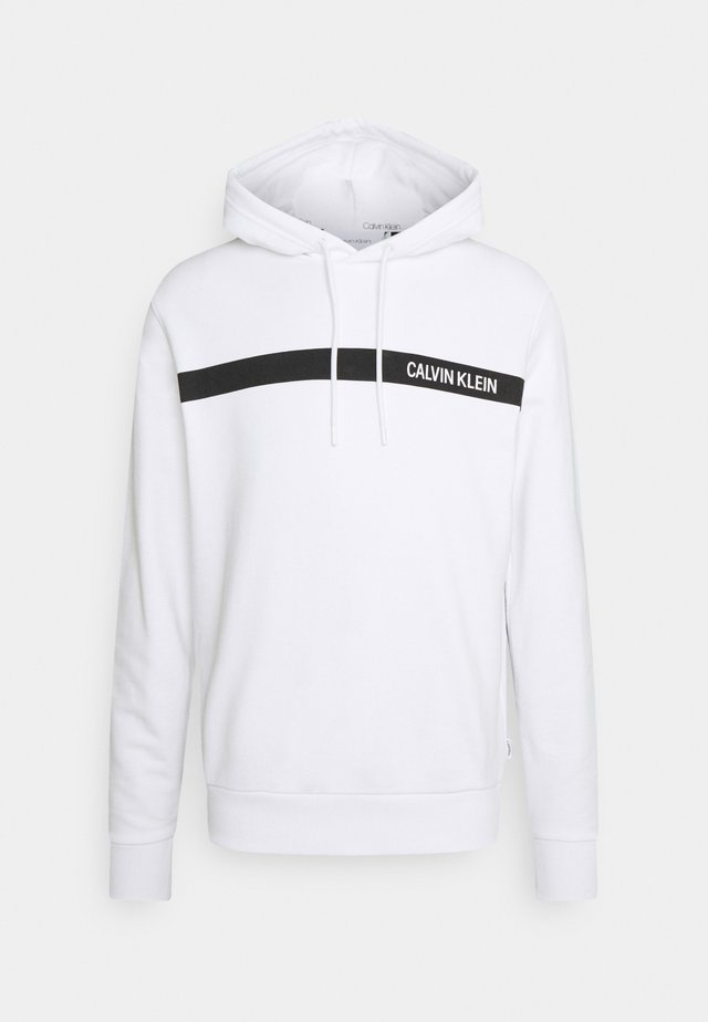 BOLD STRIPE LOGO HOODIE - Sweatshirt - white