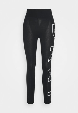 HIGH WAIST LONG LINE LEGGING - Tights - black/white