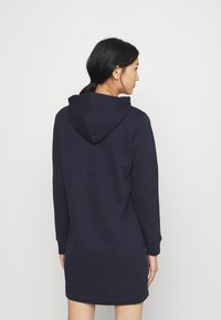 GANT - ARCHIVE SHIELD HOODIE DRESS - Day dress - evening blue - 2