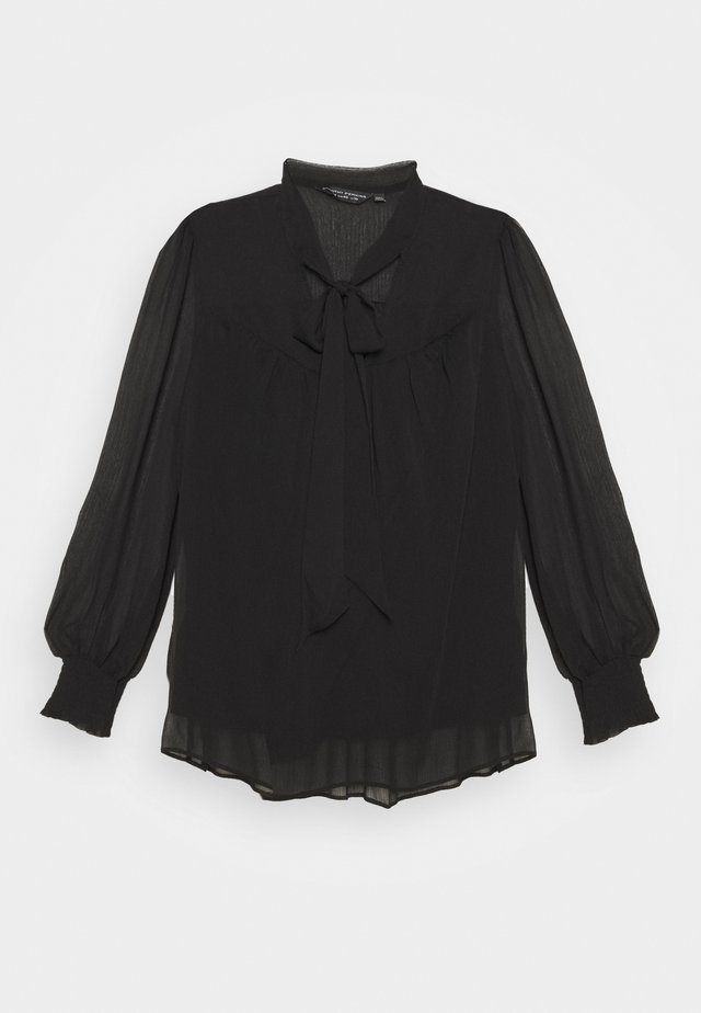 LONG SLEEVE TIE  - Blouse - black