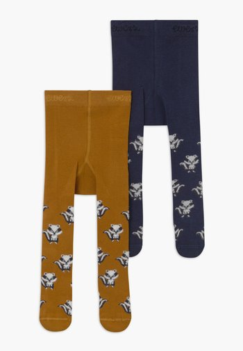 BADGER 2PACK - Tights - tinte/toffee