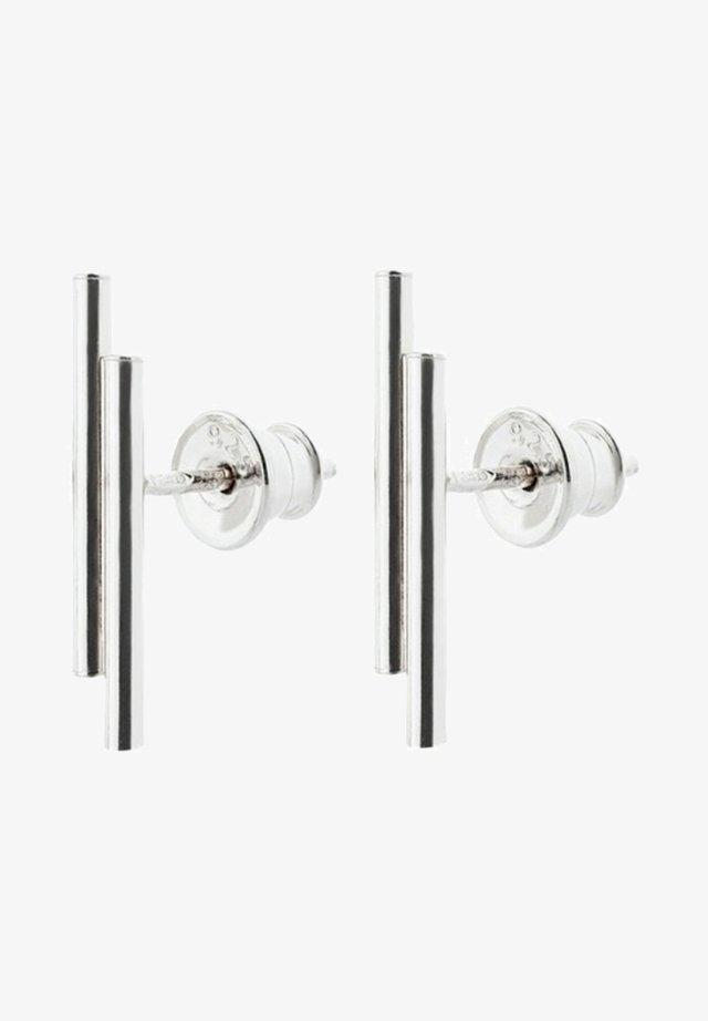 DOUBLE PIPE  - Earrings - silver
