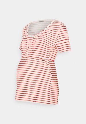 SHIRT NURSING BRETON - Print T-shirt - red