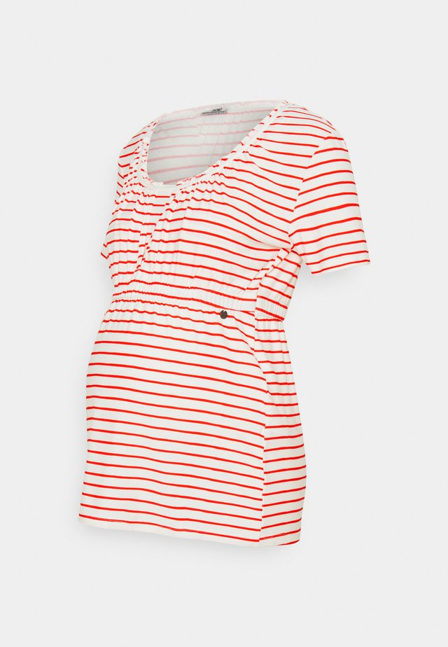 SHIRT NURSING BRETON - Print T-shirt - red