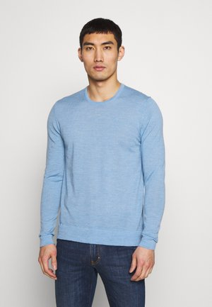 Stickad tröja - dusk blue