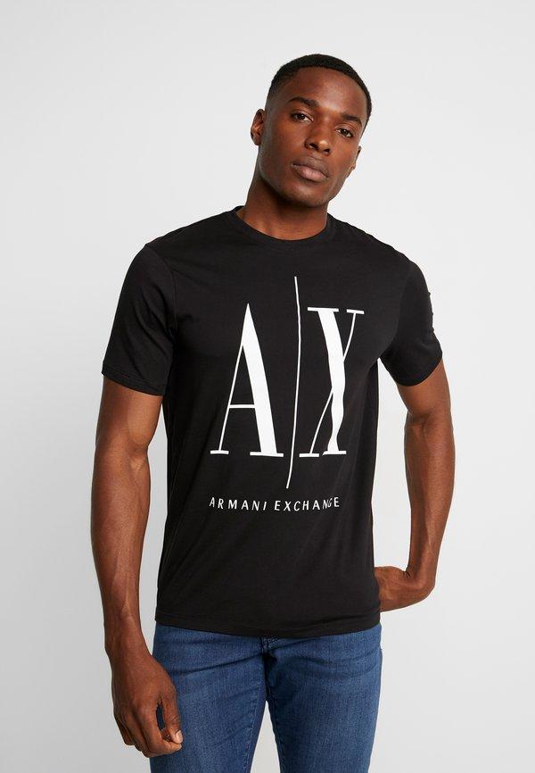 Armani Exchange T-shirt z nadrukiem - black/czarny Odzież Męska OLMQ
