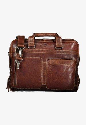 Across body bag - dark brown plain