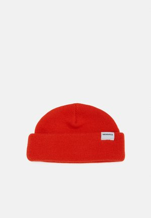 MINI ROLL BEANIE WITH TAB - Beanie - orange
