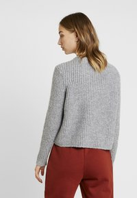 ONLY - ONLFIONA - Jumper - medium grey melange/black melange - 2