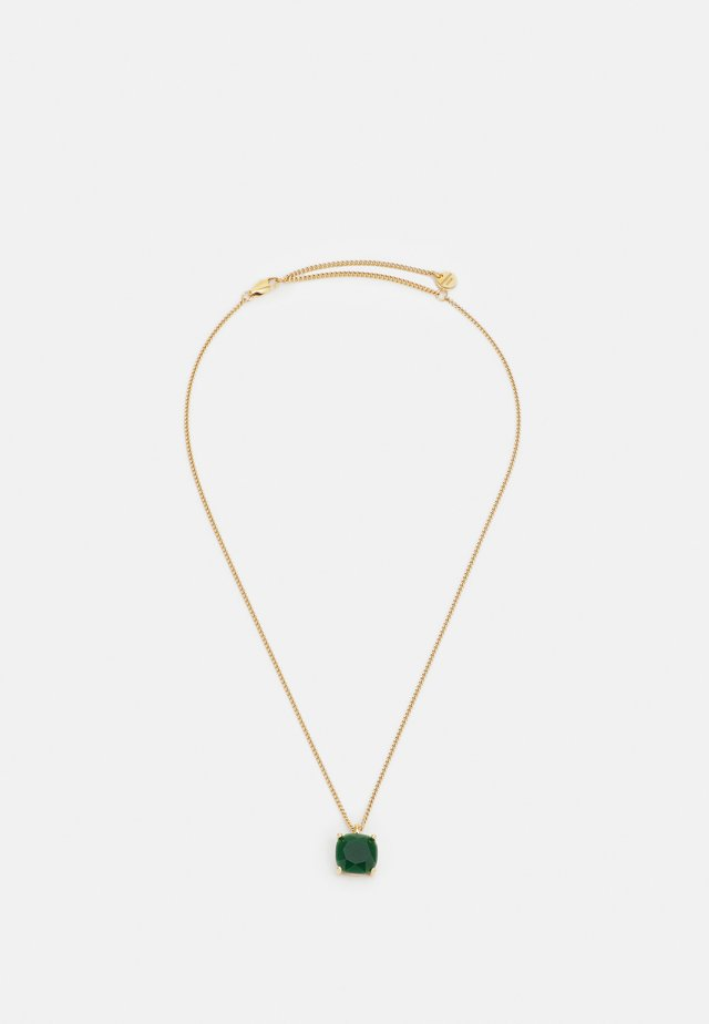 MANNY NECKLACE - Collana - green/gold-coloured