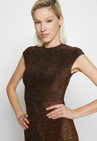 Club L London - METALLIC RUCHED FRONT MINI DRESS - Cocktail dress / Party dress - gold-coloured - 5