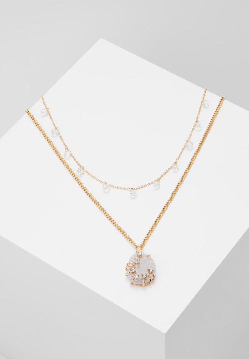 MAX&Co. - ADORARE - Necklace - white// light gold-coloured