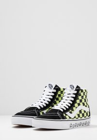 Vans - SK8 REISSUE - High-top trainers - black/sharp green - 2