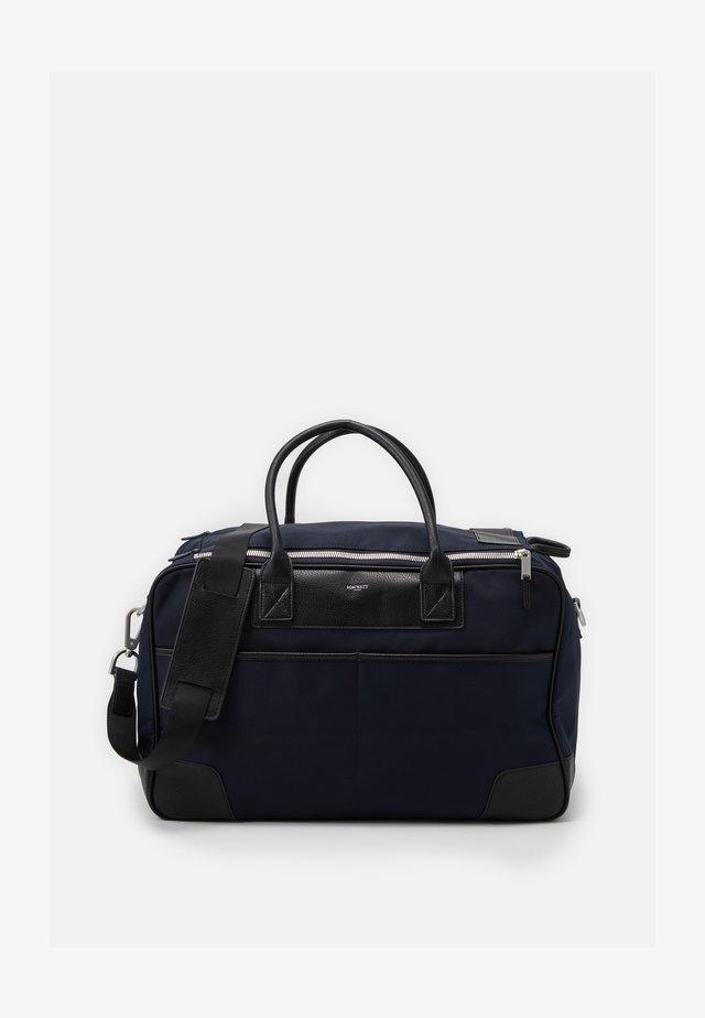 DOUBLE ZIP - Weekendbag - navy/black