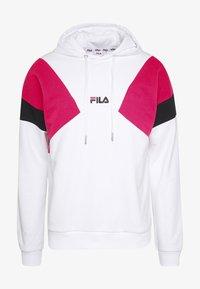 BADE - Hoodie - bright white/pink yarrow/black