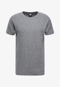 Urban Classics - MELANGE TEE - T-shirt - bas - white/black - 3