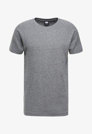 MELANGE TEE - T-shirt - bas - white/black