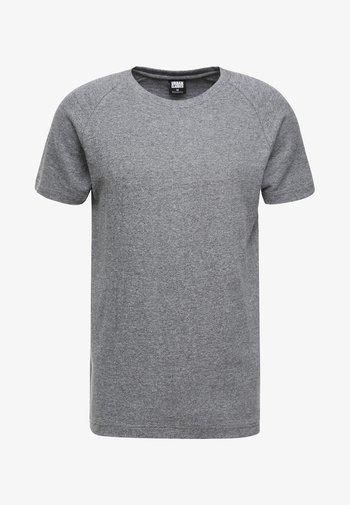 MELANGE TEE - T-shirt basic - white/black