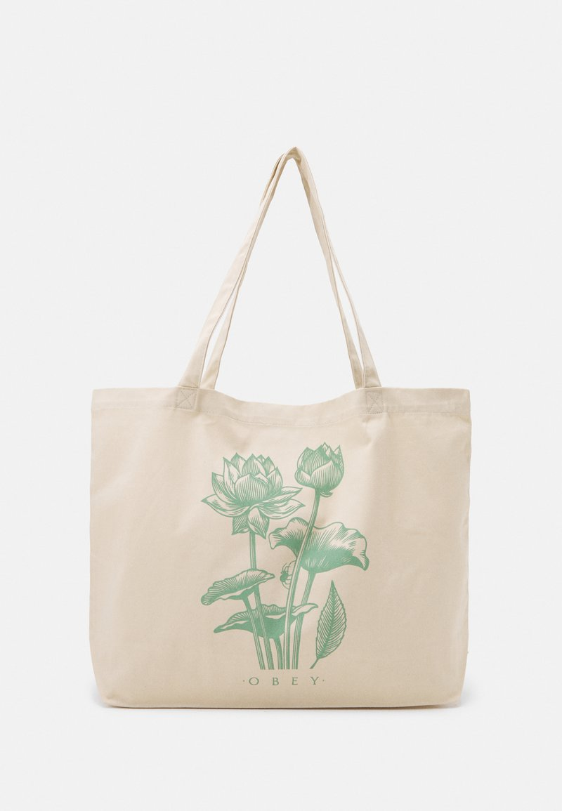 Obey Clothing - LOTUS SPIDER UNISEX - Tote bag - natural