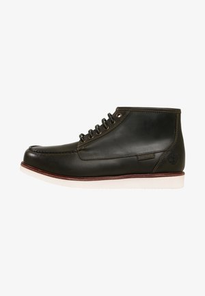 NEWMARKET  - Lace-up ankle boots - dk green full grain