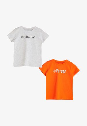 2 PACK - Print T-shirt - orange