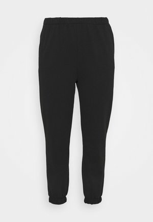HIGH RISE TRACKPANT - Tracksuit bottoms - washed black