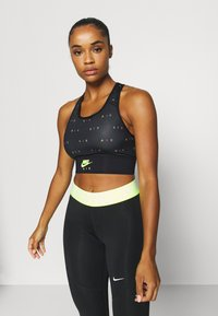 Nike Performance - AIR BRA  - Sport BH - black/volt - 0