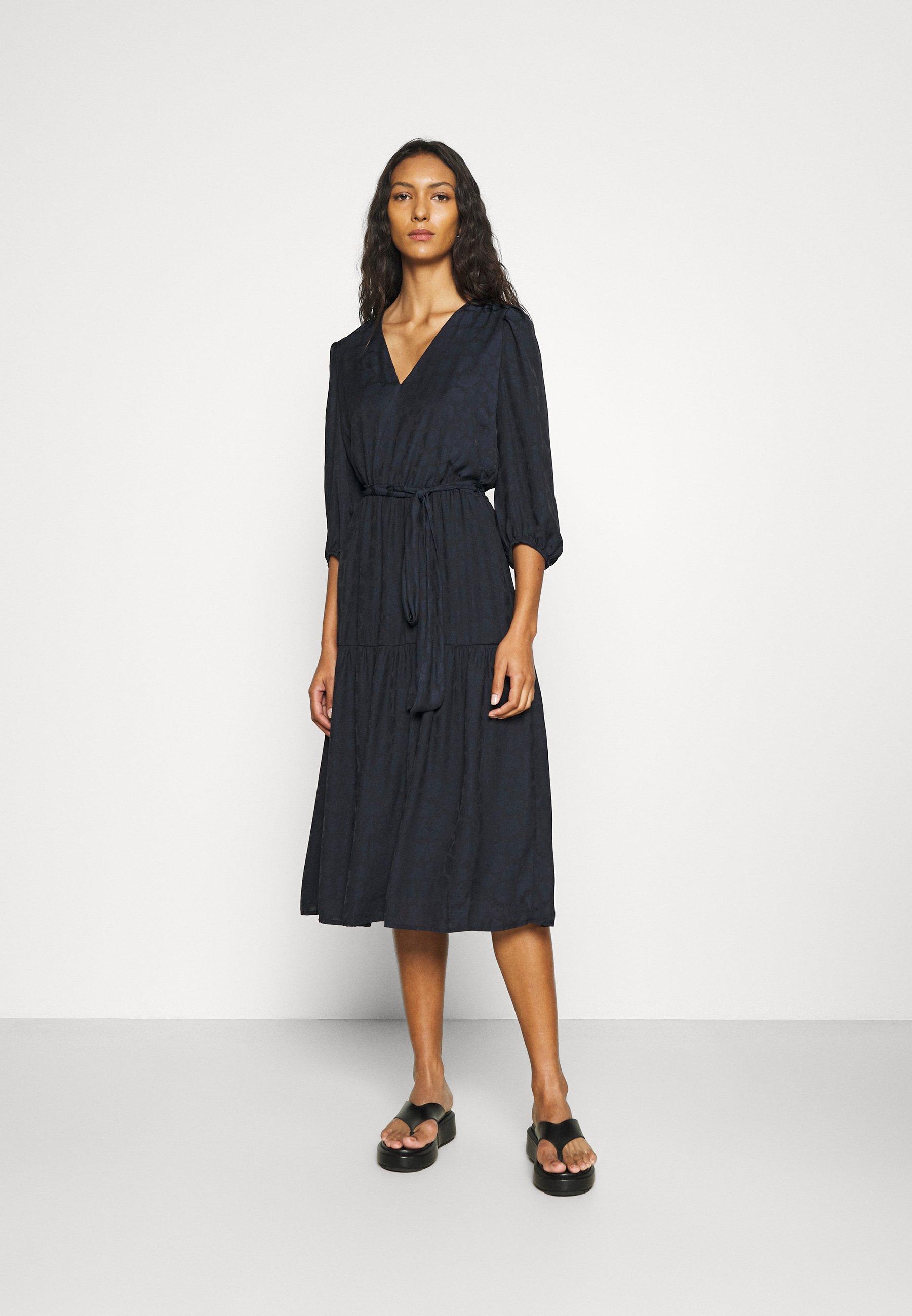 Mujer PUFF JAQUARD MIDI - Vestido informal