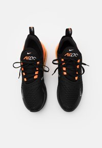 Nike Sportswear - AIR MAX 270 HU UNISEX - Trainers - black/metallic silver/laser orange - 3