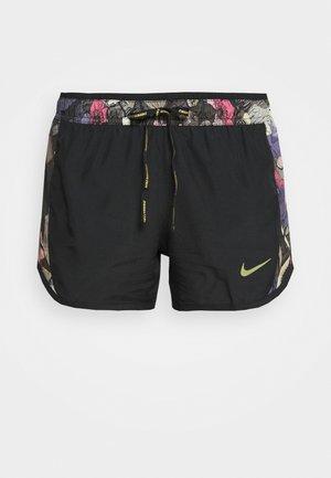10K SHORT FEMME - Sports shorts - black/ironstone/metallic gold