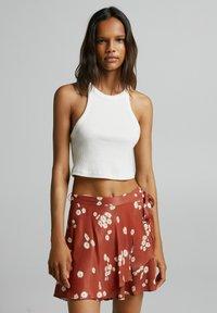 Bershka - Áčková sukně - brown - 0