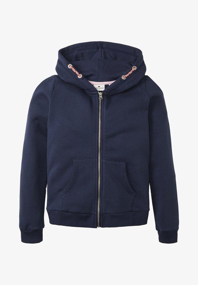 MIT NIETENMOTIV - Zip-up hoodie - peacoat|blue