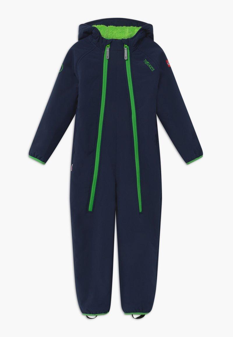 TrollKids - NORDKAPP OVERALL - Snowsuit - navy/green
