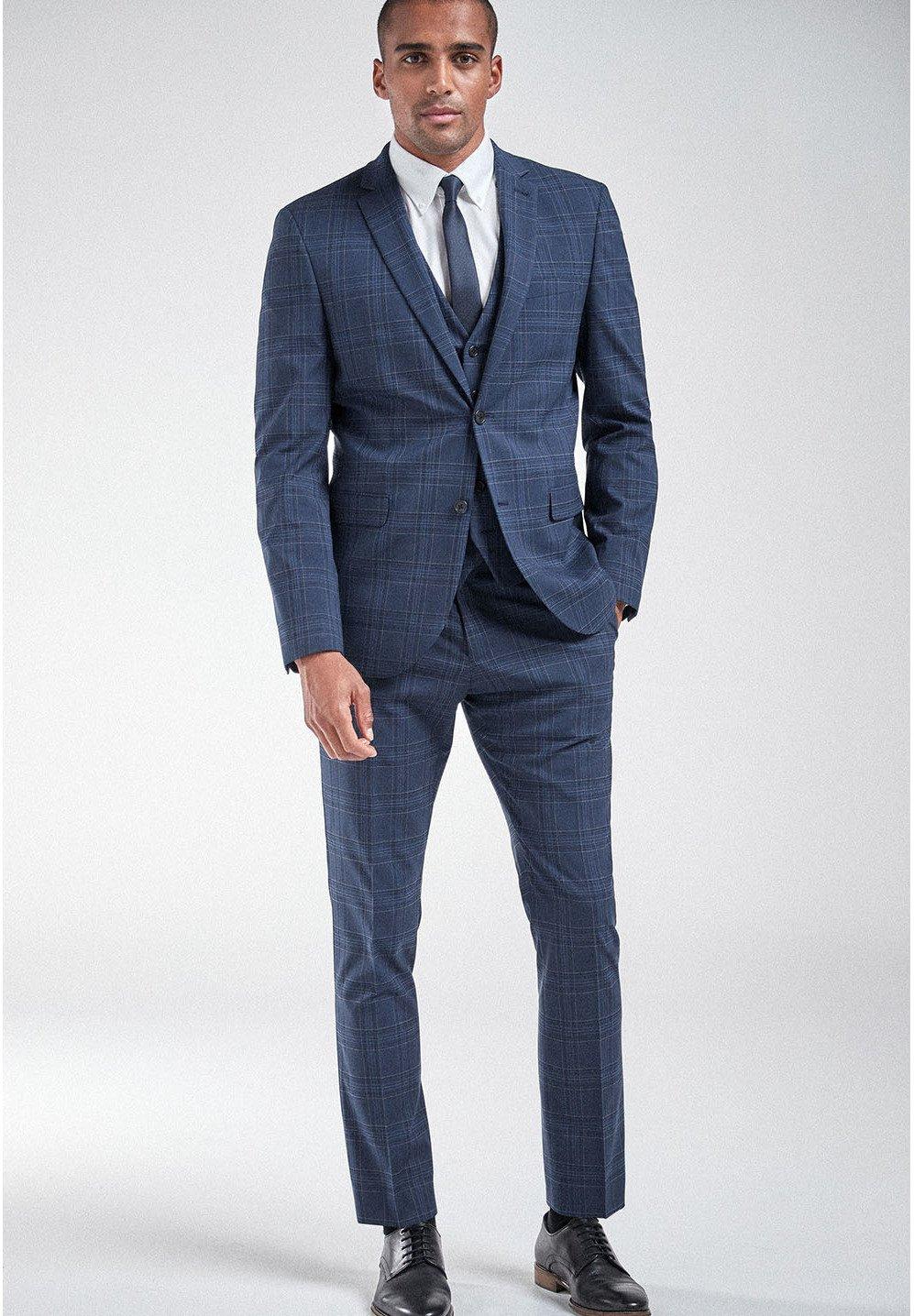 Uomo CHECK SUIT: JACKET-SLIM FIT - Giacca elegante